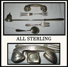 All Sterling including a Very Sweet Sterling Silver Telephone Baby's Rattle