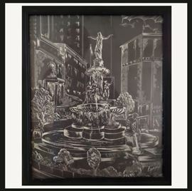 Cool Black and White Fountain Picture