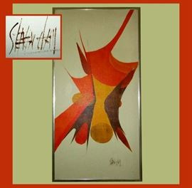 Very Nice Signed Modernist Oil on Canvas