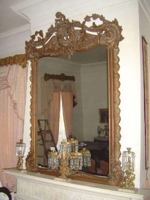 P-9 Gilt French Rococco OverMantle Mirror