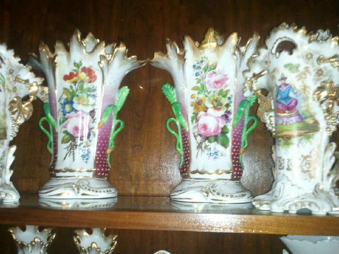 Old Paris Vases closeup