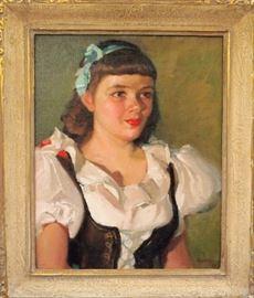 Richard Epperly (1891-1973) - Oil on Canvas, Portrait