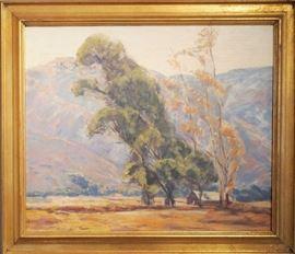 Gertrude Hanscom (1890-1975 ) Oil on Canvas , California Landscape