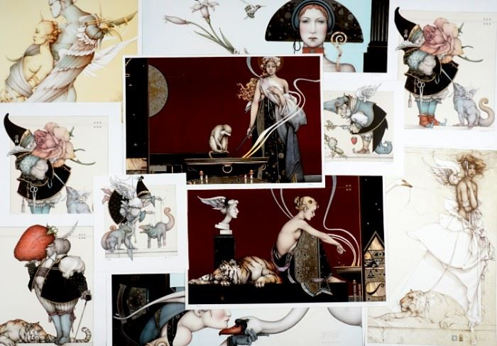 Large selection of Michael Parkes lithographs