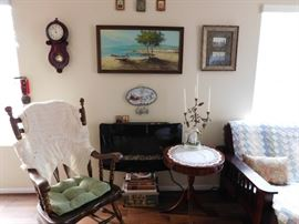 Estate Sale: Rocking Chair, Antique French Candelabra
