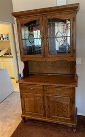 Oak/Glass Display/Curio Cabinet	$165.00 Dimensions: (HxWxD in)	81x46x20in