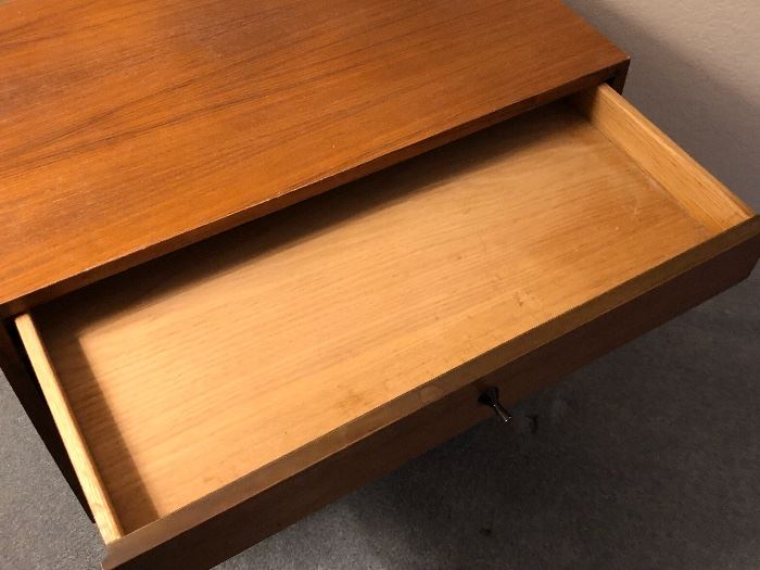 1 Kipp Stewart Mid Century Modern for Calvin Furniture Co. Walnut Nightstand Dimensions: (HxWxD in)	20x24x15in