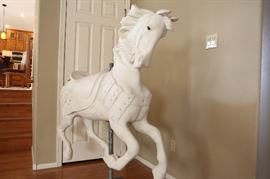 *Original* Antique Marcus Charles Illions Carousel Horse Hand Carved Wood