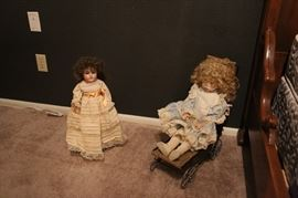 Many Antique German/French Dolls