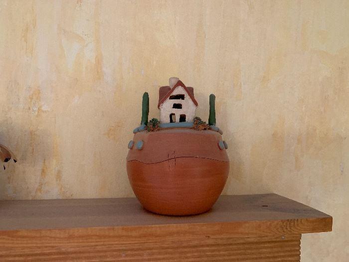 Southwest Pottery Lidded Bowl House