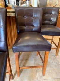 3 Padded Counter Height Stools/Chairs	39x20x20 (seat: 24in)	HxWxD