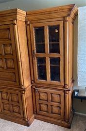 MaVatis 3 Piece Rustic Entertainment Cabinet80x116x29inHxWxD