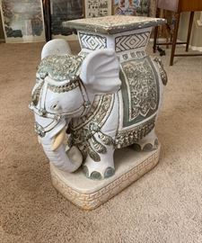 Antique Elephant Plant Stand AS-IS