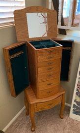 Jewelry Cabinet39x17x13inHxWxD