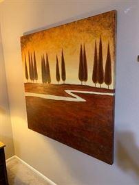 Trees/Stream Decor Painting48x48