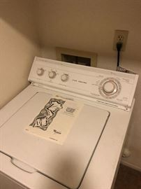 Whirlpool Ultimate care II washer super plus capacity