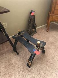Antique Camel saddle stool