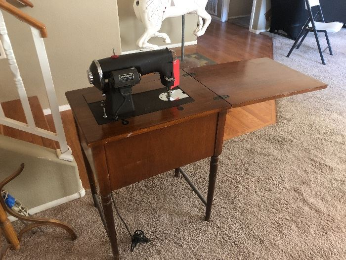 Kenmore E6354 Heavy Duty Vintage Sewing Machine	30x24x18in	HxWxD