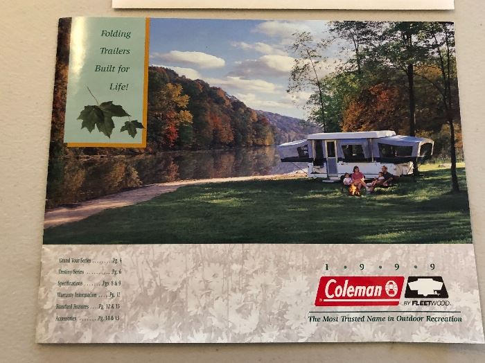 1999 Coleman Taos Fleetwood pop up camper	CLEAN/CLEAR TITLE