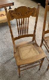 ▪Antique Oak/Cane Chair #1  ▪Antique Oak/Cane Chair #2