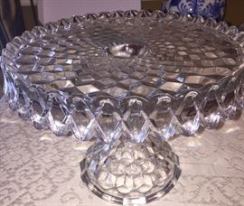 perfect American Fostoria pedestal cake plate