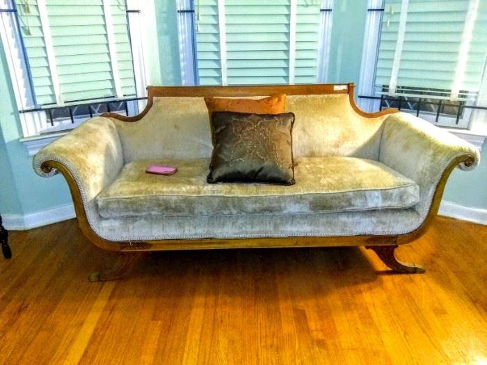 """Lovely """"Duncan Phyfe"""" sofa"""