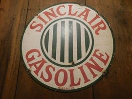 "Early Porcelain 24"" Sinclair Gasoline Sign(Double Sided)"