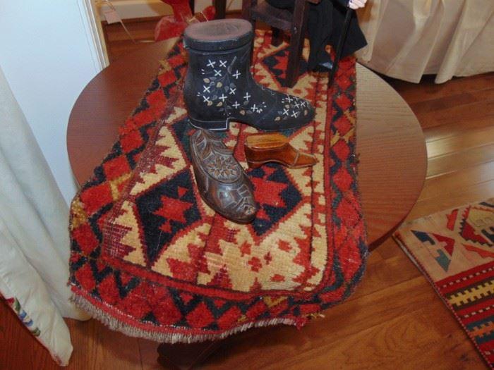 Antique Persian cradle mat (naprach).  Very rare.