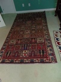 Pakistani carpet.  Antique.  4' X 9'.