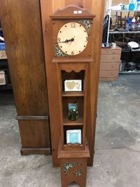 "faux ""grandmother"" clock with shelves"