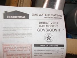 Gas water heaters direct vent