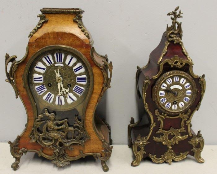 An Antique Leroy Fils Clock Together