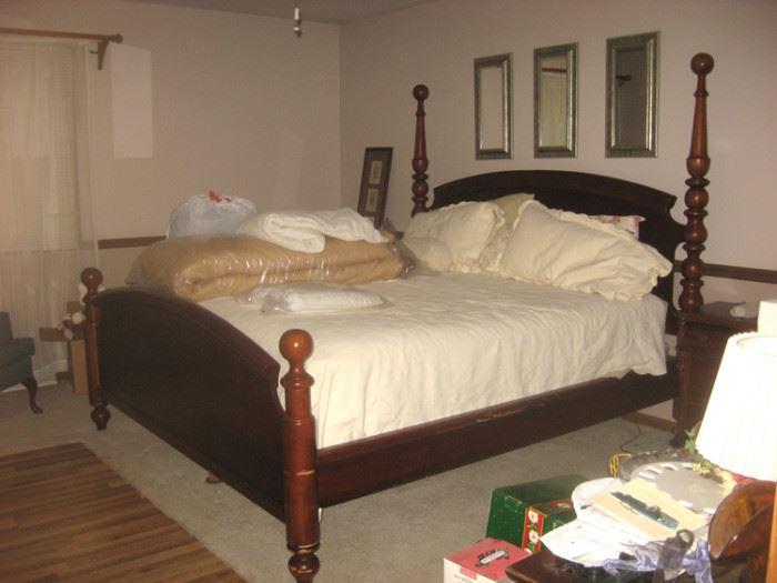 King Bed, Wood Side Rails