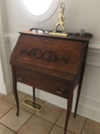 nice antique  ladies  drop front desk