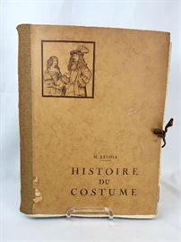 History of Costumes  Volume IX  By M. Maurice Leloir 1934 In French.