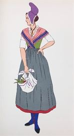 One of 40 plates in French Costumes book by Lepage-Medvey.