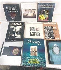 Lot of 9 photography books.