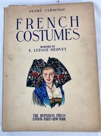 French Costumes book in a lot with Latin American Costumes book.