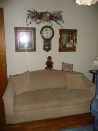 Hide -a- bed love seat / LOTS of decor
