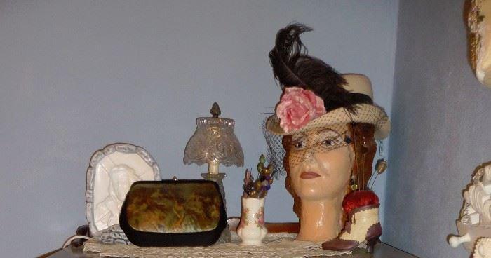 ladies head / hats and purses