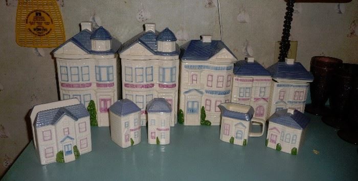 Holt Howard canister sets all to be sold together