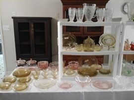 Depression glass patterns  Old Colony Open Lace, Madrid, Patrician,  Cameo / Ballerina,  Swirl, Block Optic, Lovebirds and more.
