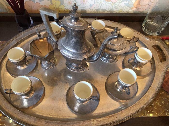 1920's Tiffany Tea Set with Tray!