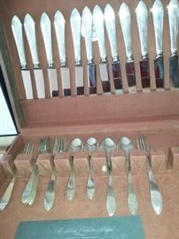 "Tiffany Sterling Silver ""Faneuil"" Flatware in case"