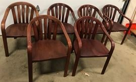 Courthouse Gunlocke Walker Group Walnut Chairs