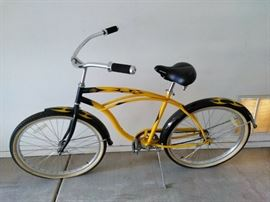 CG12 Mens Mikes Hard Lemonade Beach Cruiser Bicycle