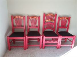 CLR07 Four MexicanStyle Chairs in Two Sizes