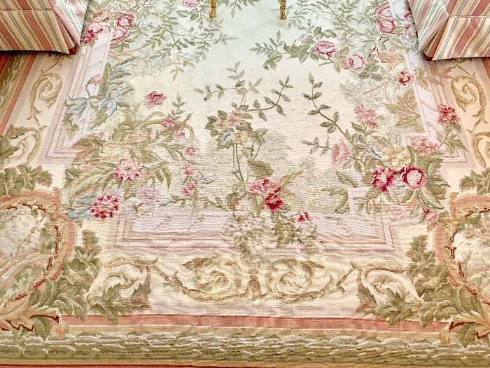 Aubusson rug 10 ft 2 inches by 7 ft 8 inches