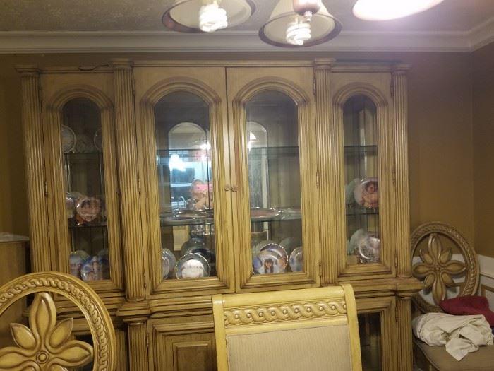 Beautiful large lighted china cabinet