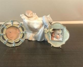 Jay Strong Water Little frames and Lladro baby.